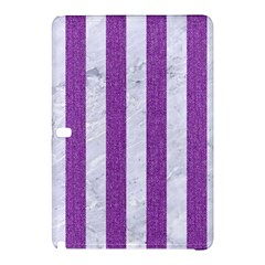 Stripes1 White Marble & Purple Denim Samsung Galaxy Tab Pro 12 2 Hardshell Case
