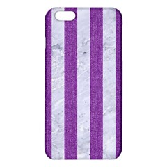 Stripes1 White Marble & Purple Denim Iphone 6 Plus/6s Plus Tpu Case