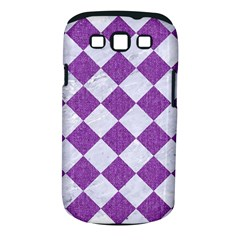 Square2 White Marble & Purple Denim Samsung Galaxy S Iii Classic Hardshell Case (pc+silicone)