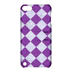 Square2 White Marble & Purple Denim Apple Ipod Touch 5 Hardshell Case With Stand