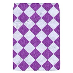 Square2 White Marble & Purple Denim Flap Covers (s)