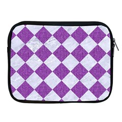 Square2 White Marble & Purple Denim Apple Ipad 2/3/4 Zipper Cases by trendistuff