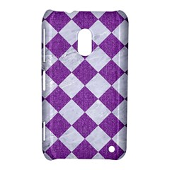Square2 White Marble & Purple Denim Nokia Lumia 620