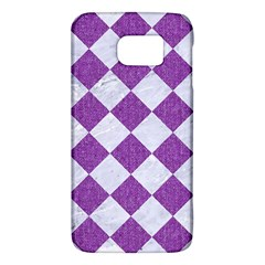 Square2 White Marble & Purple Denim Galaxy S6