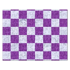 Square1 White Marble & Purple Denim Rectangular Jigsaw Puzzl