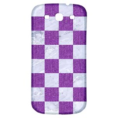 Square1 White Marble & Purple Denim Samsung Galaxy S3 S Iii Classic Hardshell Back Case