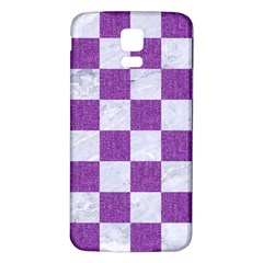 Square1 White Marble & Purple Denim Samsung Galaxy S5 Back Case (white) by trendistuff