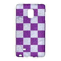 Square1 White Marble & Purple Denim Galaxy Note Edge
