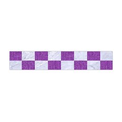 Square1 White Marble & Purple Denim Flano Scarf (mini)
