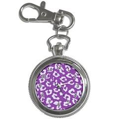 Skin5 White Marble & Purple Denim (r) Key Chain Watches
