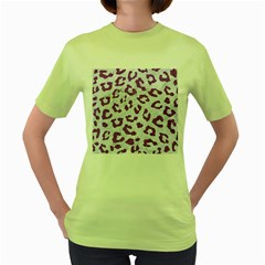 Skin5 White Marble & Purple Denim Women s Green T Shirt