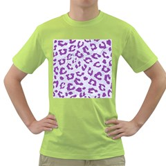 Skin5 White Marble & Purple Denim Green T Shirt