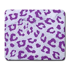 Skin5 White Marble & Purple Denim Large Mousepads