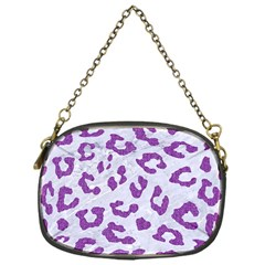 Skin5 White Marble & Purple Denim Chain Purses (one Side)  by trendistuff