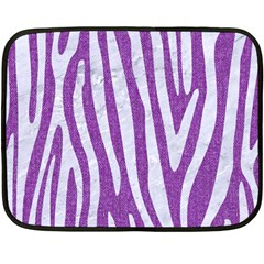 Skin4 White Marble & Purple Denim (r) Fleece Blanket (mini) by trendistuff