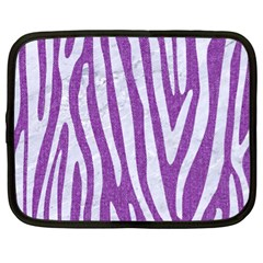 Skin4 White Marble & Purple Denim (r) Netbook Case (xl)
