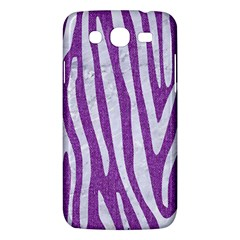 Skin4 White Marble & Purple Denim (r) Samsung Galaxy Mega 5 8 I9152 Hardshell Case  by trendistuff