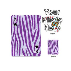 Skin4 White Marble & Purple Denim Playing Cards 54 (mini)