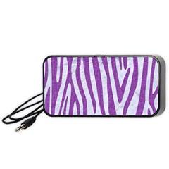 Skin4 White Marble & Purple Denim Portable Speaker