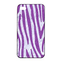 Skin4 White Marble & Purple Denim Apple Iphone 4/4s Seamless Case (black)