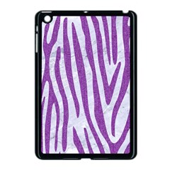 Skin4 White Marble & Purple Denim Apple Ipad Mini Case (black)