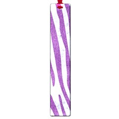 Skin4 White Marble & Purple Denim Large Book Marks