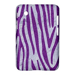 Skin4 White Marble & Purple Denim Samsung Galaxy Tab 2 (7 ) P3100 Hardshell Case