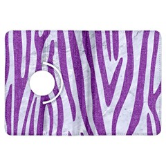 Skin4 White Marble & Purple Denim Kindle Fire Hdx Flip 360 Case