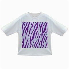 Skin3 White Marble & Purple Denim (r) Infant/toddler T Shirts