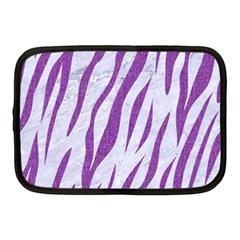 Skin3 White Marble & Purple Denim (r) Netbook Case (medium)