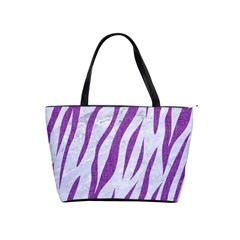 Skin3 White Marble & Purple Denim (r) Shoulder Handbags by trendistuff