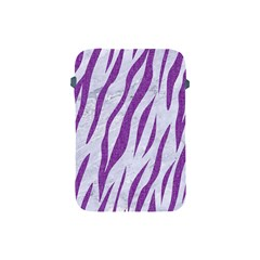 Skin3 White Marble & Purple Denim (r) Apple Ipad Mini Protective Soft Cases by trendistuff