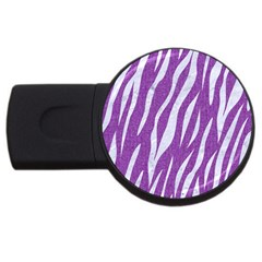 Skin3 White Marble & Purple Denim Usb Flash Drive Round (2 Gb) by trendistuff