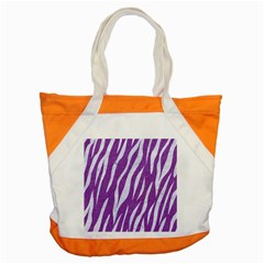 Skin3 White Marble & Purple Denim Accent Tote Bag
