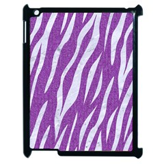 Skin3 White Marble & Purple Denim Apple Ipad 2 Case (black)