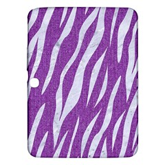 Skin3 White Marble & Purple Denim Samsung Galaxy Tab 3 (10 1 ) P5200 Hardshell Case  by trendistuff