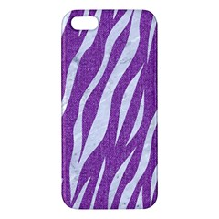 Skin3 White Marble & Purple Denim Iphone 5s/ Se Premium Hardshell Case