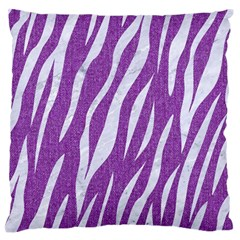 Skin3 White Marble & Purple Denim Standard Flano Cushion Case (one Side)