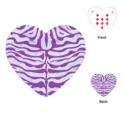 Skin2 White Marble & Purple Denim (r) Playing Cards (heart)  by trendistuff