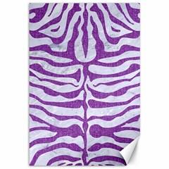 Skin2 White Marble & Purple Denim (r) Canvas 12  X 18