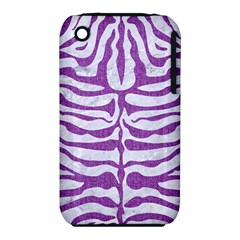 Skin2 White Marble & Purple Denim (r) Iphone 3s/3gs