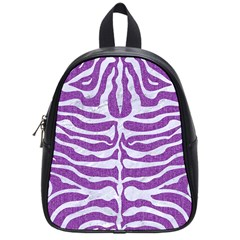 Skin2 White Marble & Purple Denim School Bag (small)