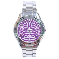 Skin2 White Marble & Purple Denim Stainless Steel Analogue Watch by trendistuff