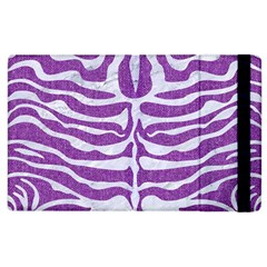 Skin2 White Marble & Purple Denim Apple Ipad 3/4 Flip Case by trendistuff
