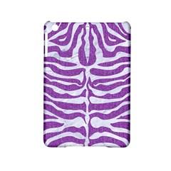 Skin2 White Marble & Purple Denim Ipad Mini 2 Hardshell Cases by trendistuff