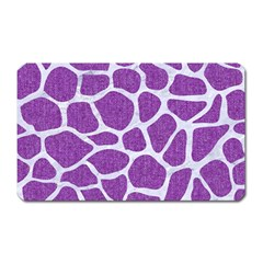 Skin1 White Marble & Purple Denim (r) Magnet (rectangular)