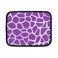 Skin1 White Marble & Purple Denim (r) Netbook Case (small)