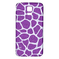Skin1 White Marble & Purple Denim (r) Samsung Galaxy S5 Back Case (white)