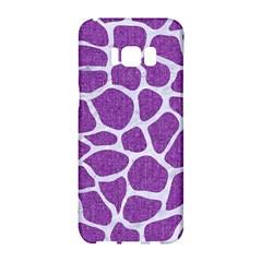Skin1 White Marble & Purple Denim (r) Samsung Galaxy S8 Hardshell Case