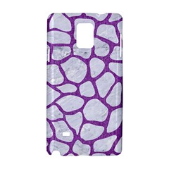 Skin1 White Marble & Purple Denim Samsung Galaxy Note 4 Hardshell Case